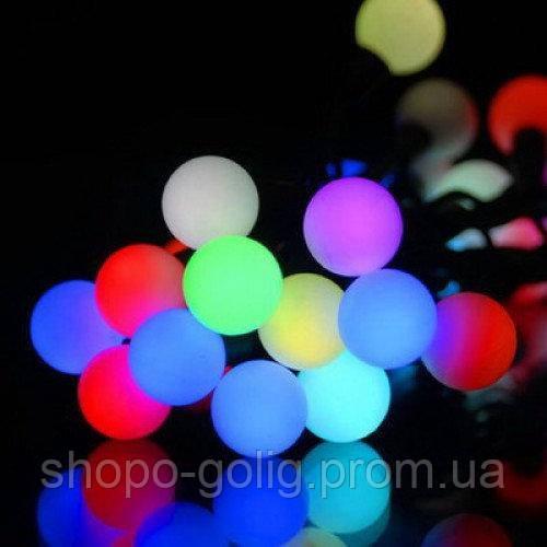 Светодиодная гирлянда Шарики LED 40 мульти Новогодняя 6метров
