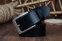 Ремень мужской кожаный классический (черный), фото 1