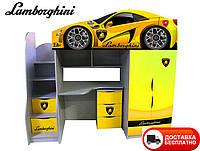Детская кровать-чердак Bed-Room Lamborghini, серия Бренд 1700*800, бесплатная доставка в Ваш город