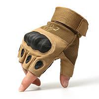 Тактические беспалые перчаткиOakley цвет Койот