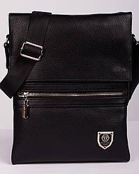 Новинка! Кожаная мужская сумка Philipp Plein