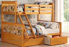 """Трансформер Двухярусная трехспальная кровать семейного типа """"Олигарх """"с ящиками и бортиками, фото 2"""
