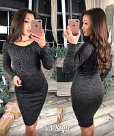 Платье ангора с камнями (2 цвета)