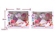 Кукла 88111-2 (24шт/2) 2вида,с диваном,трюмо с зеркалом,стульчик,аксесс, в кор.26*35*13,5см