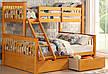 """Трансформер Двухъярусная трехспальная кровать семейного типа """"Олигарх """"без ящиков, фото 4"""