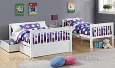"""Трансформер Двухъярусная трехспальная кровать семейного типа """"Олигарх """"без ящиков, фото 3"""