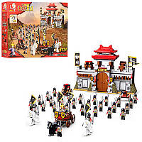 Конструктор SLUBAN Рыцари, замок, колесница, фигурки, 839 дет, в коробке 64-47,5-9 см, M38-B0578
