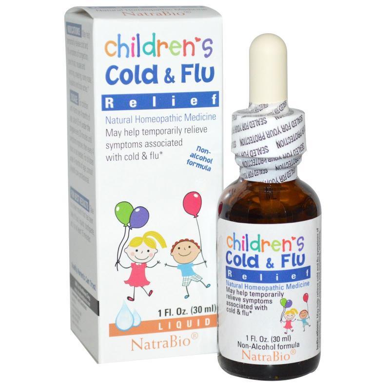 Противопростудное средство для детей, NatraBio, 30 мл