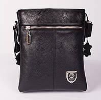 Двусторонняя кожаная мужская сумка в стиле Philipp Plein 22*19 БЕСПЛАТНАЯ ДОСТАВКА!