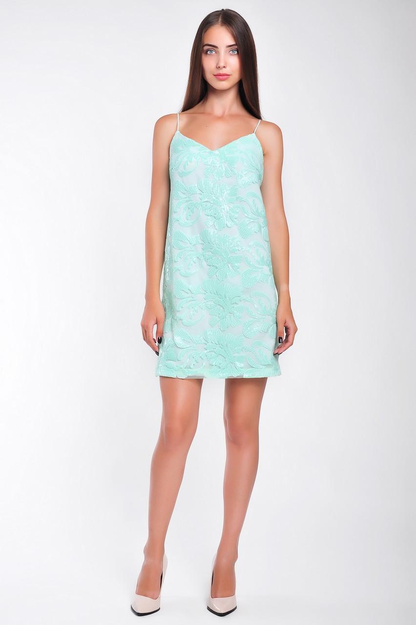 Коктейльное  женское платье короткое из паеток