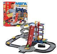 Гараж, Мега парковка на батарейках, 61 деталей, 4 этажа,4 машинки, знаки.Игровой набор парковка.Детский гараж.