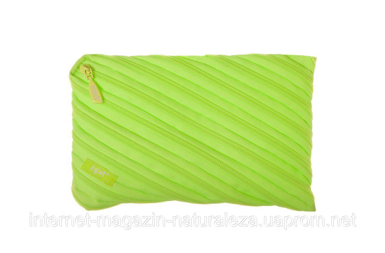 Пенал ТМ Zipit Neon Jumbo цвет Radiant Lime ( лаймовый )