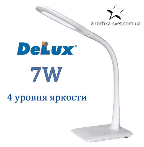 Настольная светодиодная лампа DELUX TF-110 7W 5000К 4 уровня яркости белая