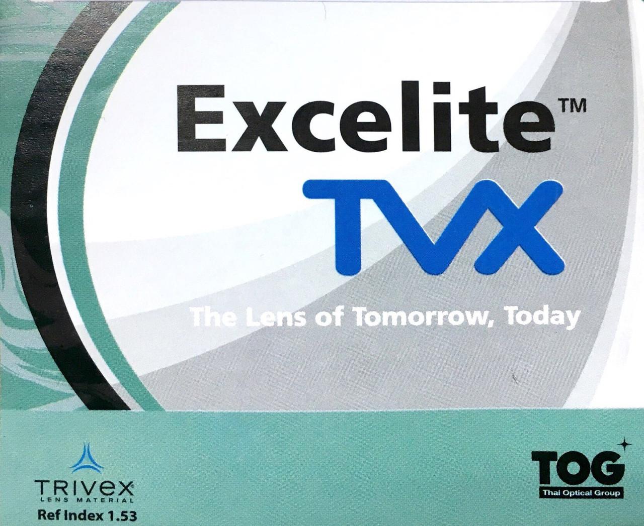 Суперпрочная и лёгкая линза Excelite Trivex 1.53 для безободковых оправ, Тайланд