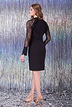 Женское черное платье с рукавами из сетки (Мелания lzn), фото 3
