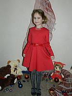 Платье трикотаж на девочку 122-134