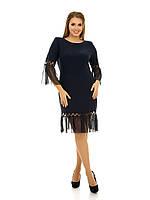 Платье масло трикотаж с сеткой и рюшами Индивидуальный пошив