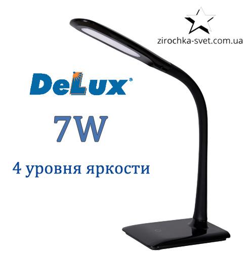 Настольная светодиодная лампа DELUX TF-110 7W 5000К 4 уровня яркости черная