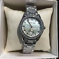 Женские наручные часы, серебристые со стразами, MICHAEL KORS N86