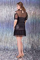 Женское блегающее платье с сеткой (Шенонlzn), фото 2