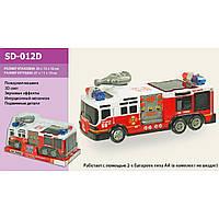 Пожарная машина батар. SD-012D (1269028) (48шт/2) 3Dсвет, звук