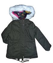 Куртка-парка для девочек на меху Nature, размеры 4/5-14/15 лет, арт. RSG-4897