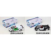 Машина батар 555A-7/555B-7 (1594108-9) (96шт/2) 2 вида Ламборджини Полиция, в кор 25*12*9 см