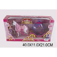 Карета 05015 (1343668) (24шт/2) с лошадкой, куколкой, в кор.40*11*21см