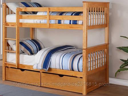 Кровать двухъярусная трансформер Альбинос (массив), фото 2