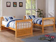 Кровать двухъярусная трансформер Альбинос (массив), фото 3