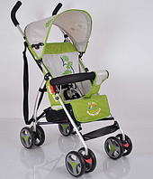 Детская коляска OPT-S-B-Y-W 302 Green (Алюминиевая рама,чехол для ног,корзина для покупок,регулируемая по высоте опора для ног,вес-4кг)