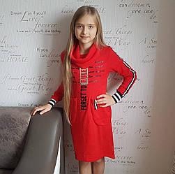 Платье спортивного фасона  детское красного цвета
