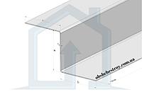 Z профиль, алюминиевый для декоративной отделки. 20Х20Х1,5 / анодированный