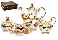 Чайный набор Lefard Букет с золотом на 15 предметов 215-148