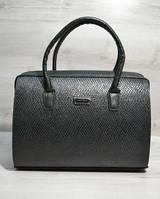 Каркасная женская сумка Саквояж зеленая змея 31125