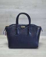 Молодежная женская сумка Живанши синяя кобра 51301