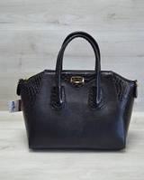 Молодежная женская сумка Живанши черная кобра 51302