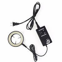 60 LED регулируемое кольцо света осветителя лампа для стерео зум микроскопа