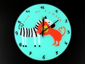 Часы настенные из стекла Африканская любовь - Интернет магазин Старик Хоттабыч в Киеве
