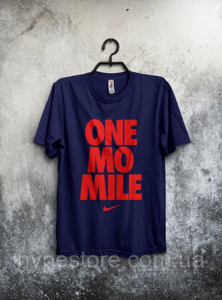 Футболка мужская Nike One Mo Mile (темно-синий), Реплика