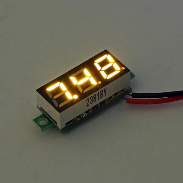 10Pcs Geekcreit® Yellow LED 0,28 дюймов 2.6V-30V Миниатюрный измеритель напряжения вольтметра Voltmeter 1TopShop