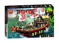 Конструктор BelaNinja Movie / Ниндзя 10723 Летающий корабль Мастера Ву (аналог Lego Ninjago Movie 70618)