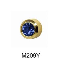 Завальцованные (сапфир) 2мм M209Y