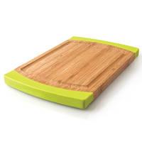 1101637 Доска для нарезки бамбуковая с силиконовыми ручками, 40 х 28 см
