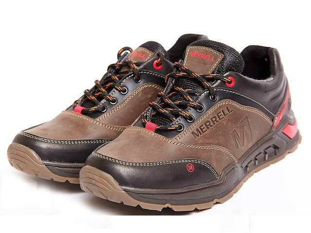 Мужские кроссовки в стиле Merrell кожаные коричневые 40 41 42 43 44 45 1b63efb30da13