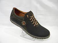 Мужские кожаные туфли comfort Ecco черные 40 41 42 43 44 45