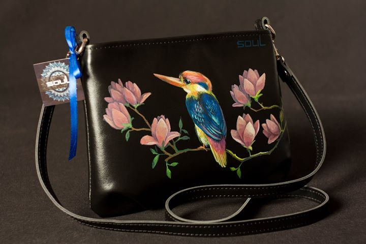 Кожаная сумка и кошелек