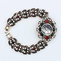 Часы женские наручные кварцевые Винтаж декорированы стразами и камушками