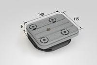 Вакуумный блок VCBL-B 140x115 с нажимным клапаном