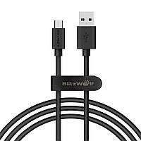 BlitzWolf® BW-CB7 2.4A 3.33ft/1m Micro USB зарядный кабель для передачи данных с Волшебным ленточным ремешком